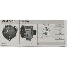 Alternatore revisionato per Citroen (Dispatch, Evasion, Xantia, Xm) Fiat Ulysse (SUA1051)