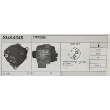 Alternatore revisionato per Citroen Saxo, ZX, Berlingo, Peugeut 106, 306 (SUA 4349)